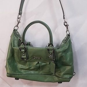 Coach Ashley Green Patent Leather